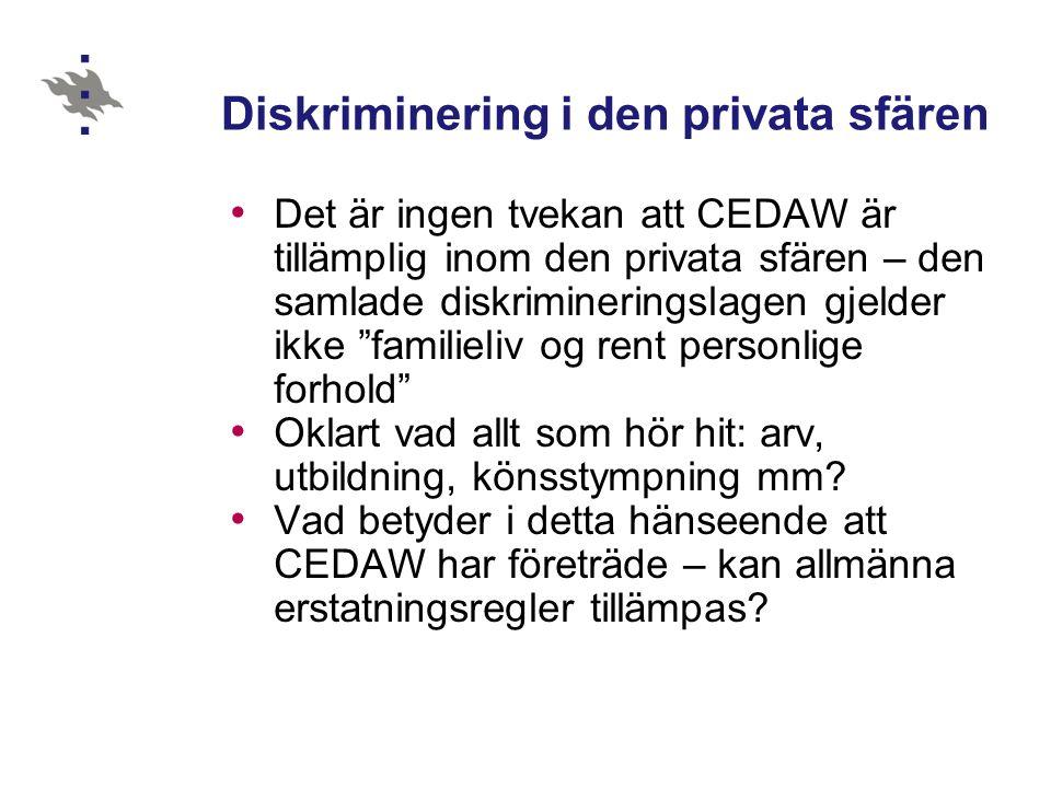 Diskriminering i den privata sfären