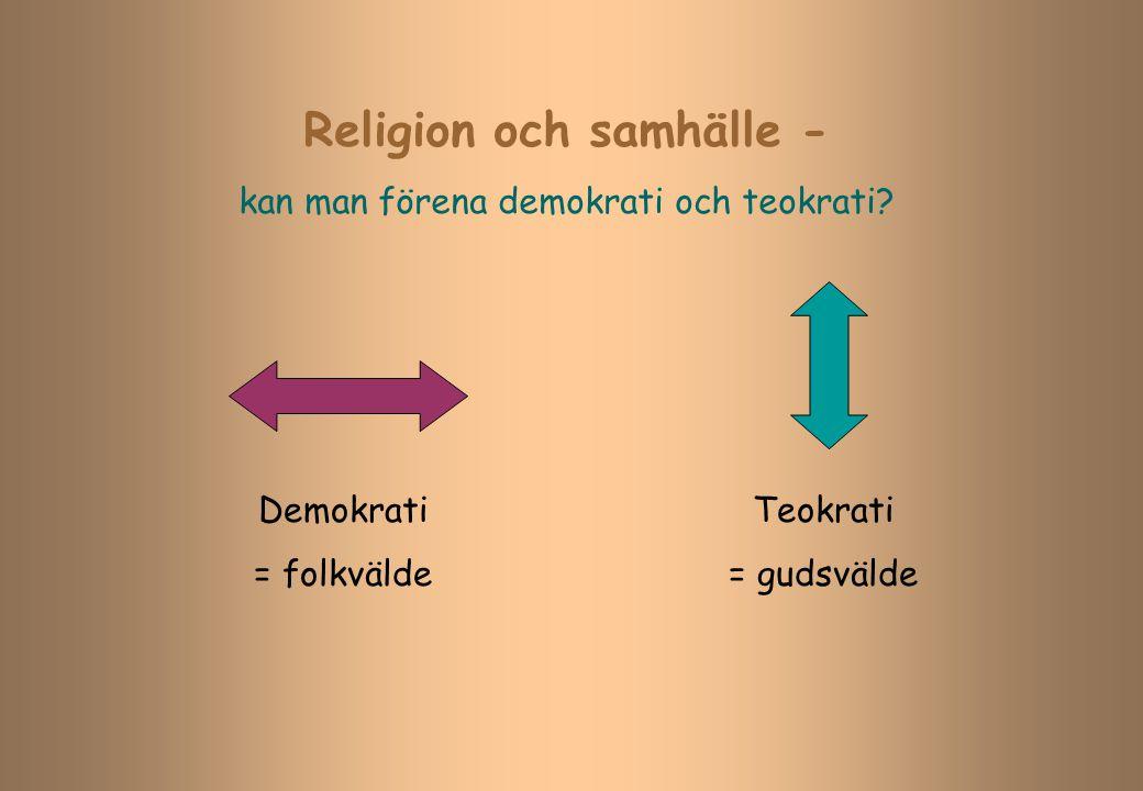 Religion och samhälle -