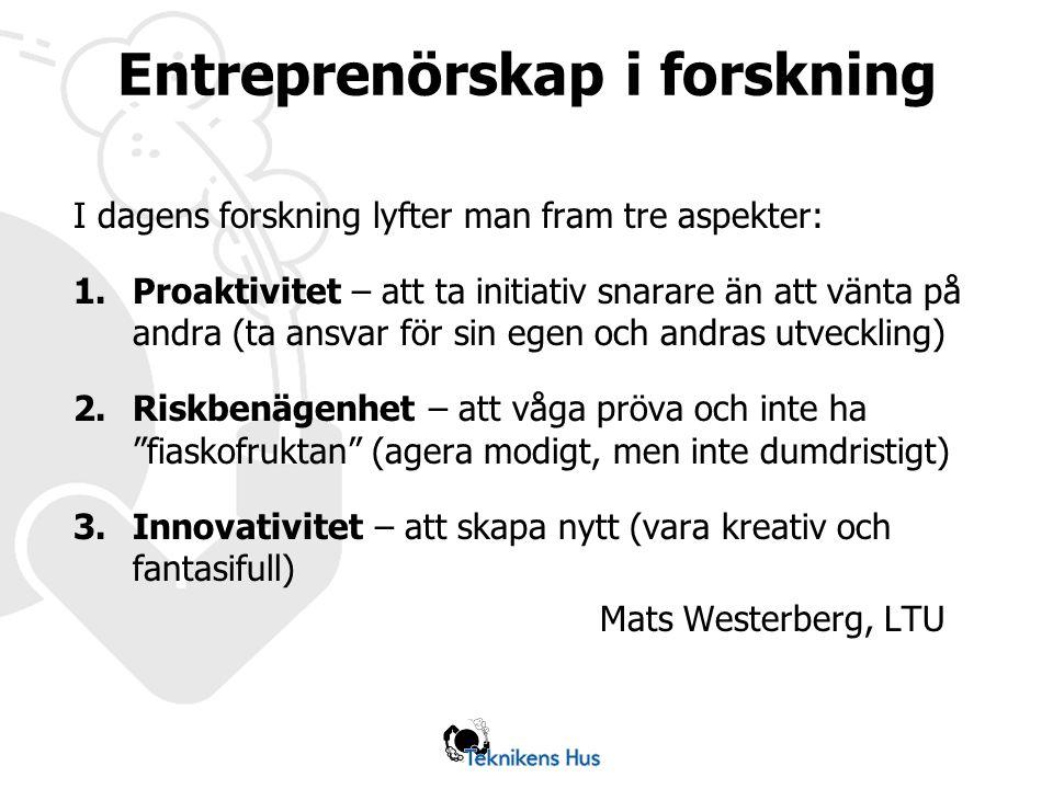 Entreprenörskap i forskning