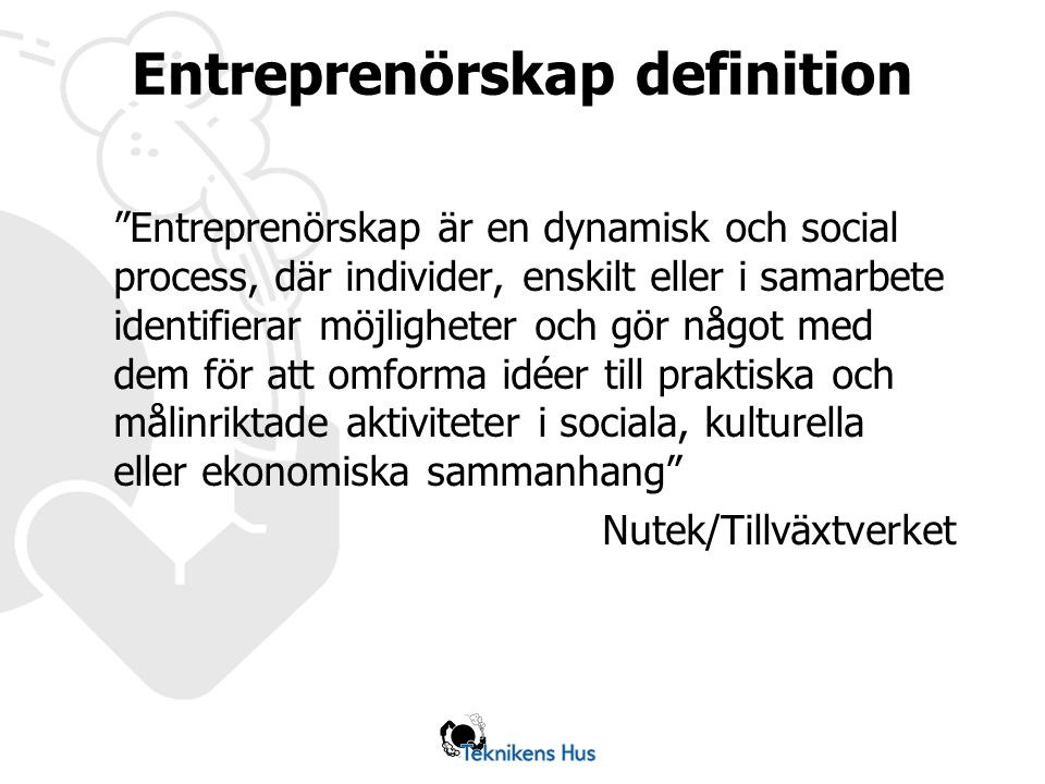 Entreprenörskap definition