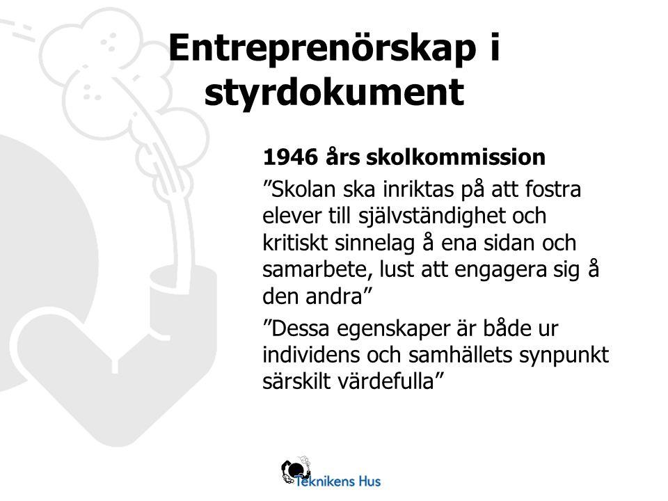 Entreprenörskap i styrdokument