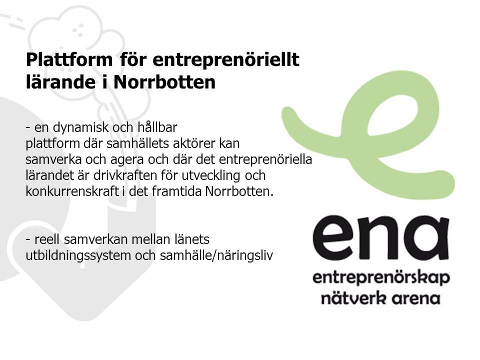 Plattform för entreprenöriellt lärande i Norrbotten