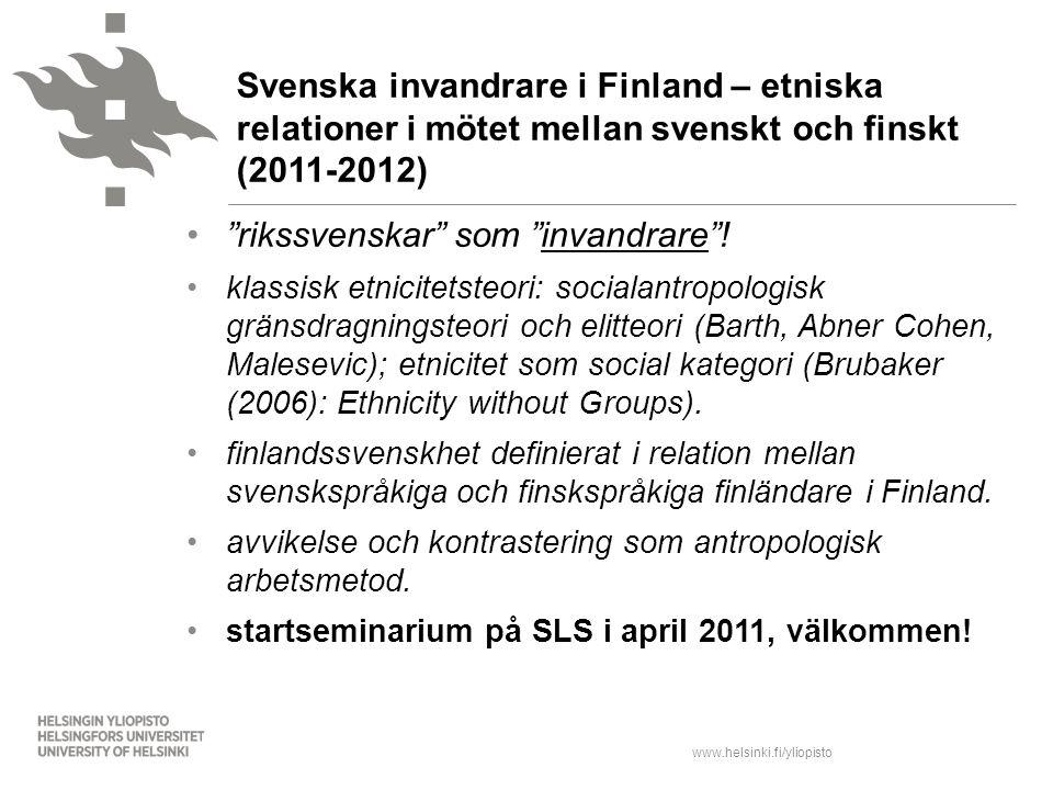 rikssvenskar som invandrare !