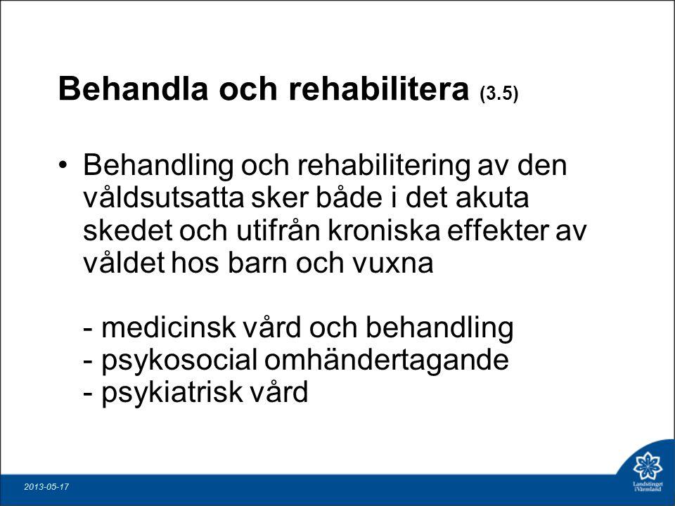 Behandla och rehabilitera (3.5)