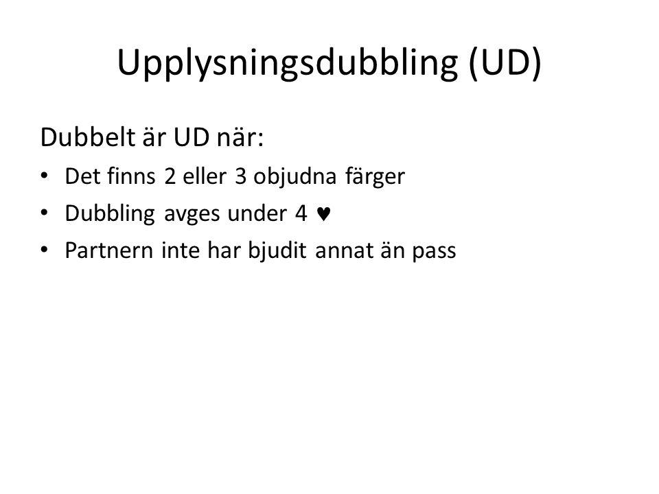 Upplysningsdubbling (UD)