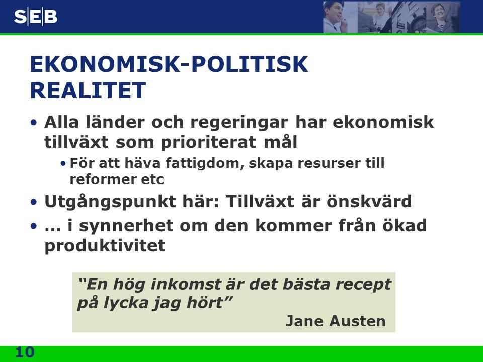 EKONOMISK-POLITISK REALITET