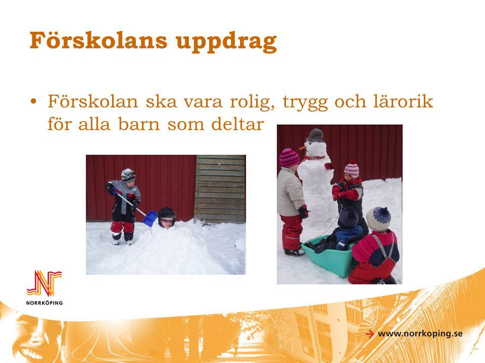 Förskolans uppdrag Förskolan ska vara rolig, trygg och lärorik för alla barn som deltar