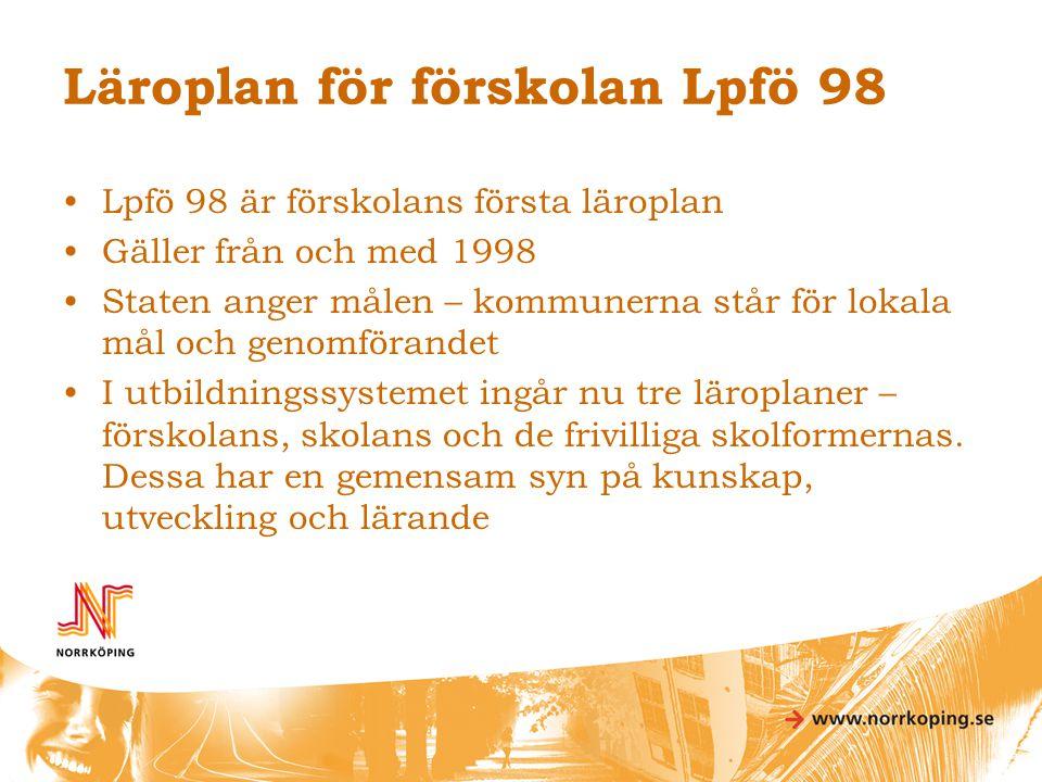 Läroplan för förskolan Lpfö 98