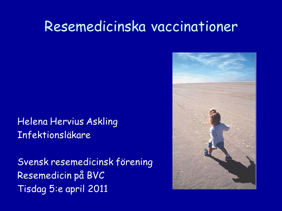 Resemedicinska vaccinationer
