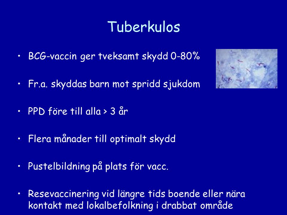 Tuberkulos BCG-vaccin ger tveksamt skydd 0-80%