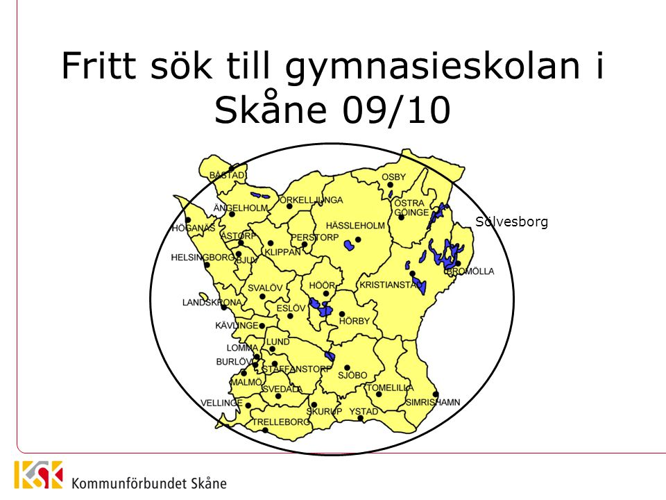 Fritt sök till gymnasieskolan i Skåne 09/10