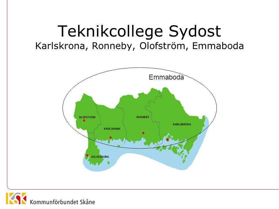 Teknikcollege Sydost Karlskrona, Ronneby, Olofström, Emmaboda