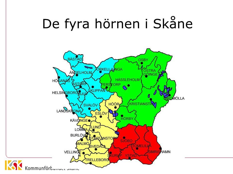 De fyra hörnen i Skåne