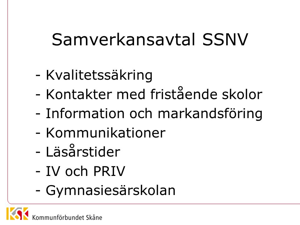 Samverkansavtal SSNV - Kvalitetssäkring