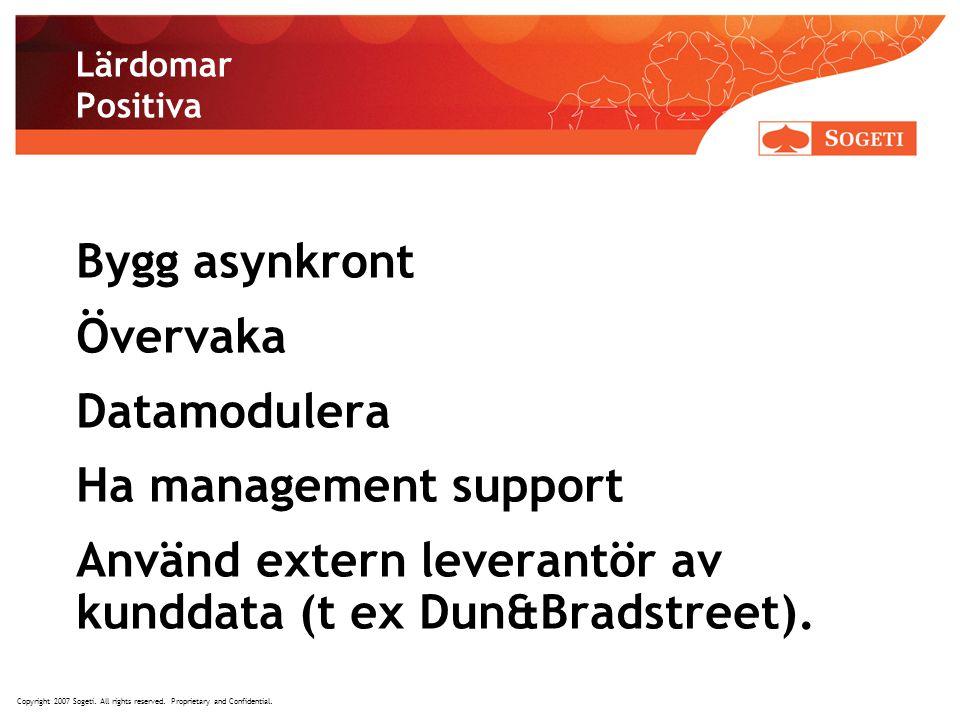 Använd extern leverantör av kunddata (t ex Dun&Bradstreet).