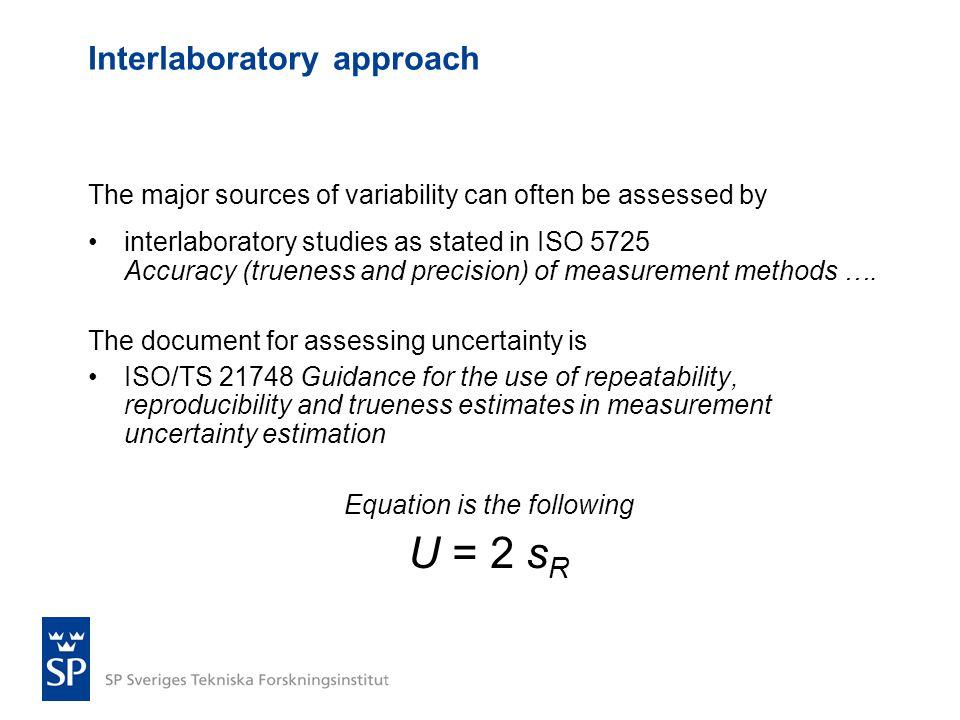 Interlaboratory approach