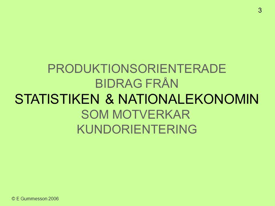 STATISTIKEN & NATIONALEKONOMIN