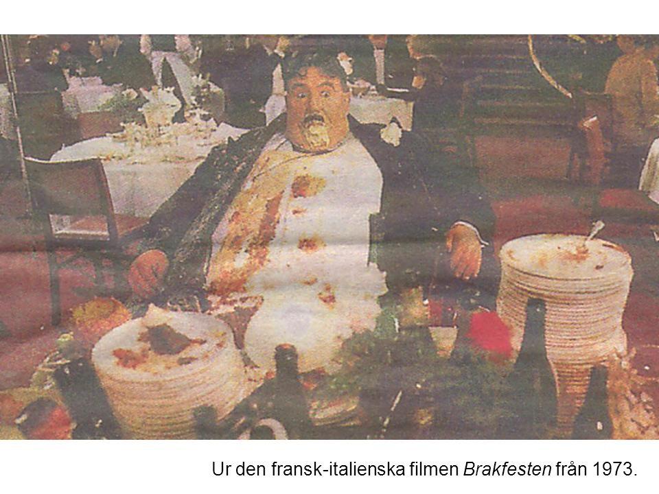 Ur den fransk-italienska filmen Brakfesten från 1973.