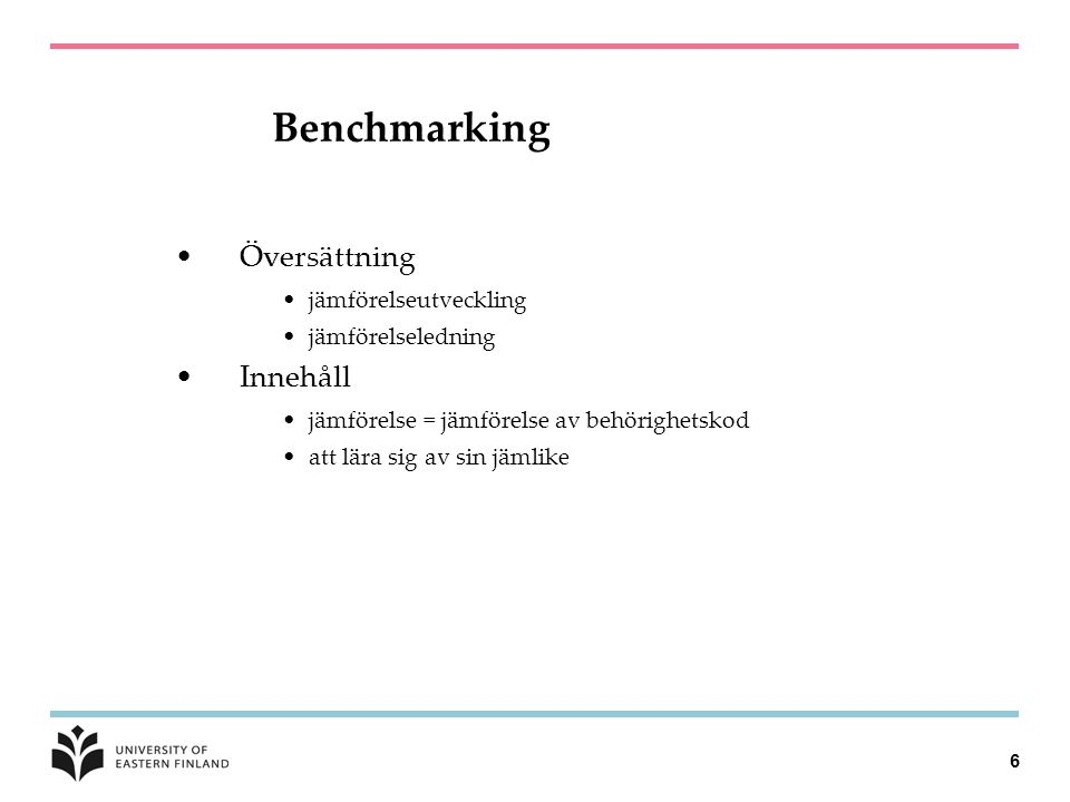 Benchmarking Översättning Innehåll jämförelseutveckling