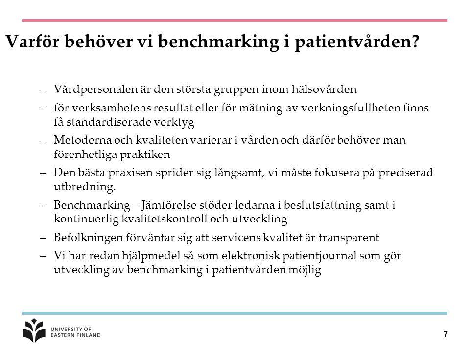 Varför behöver vi benchmarking i patientvården