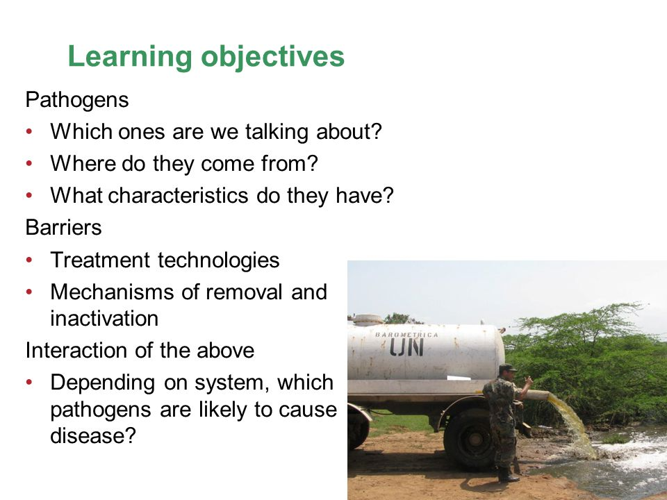 Learning objectives Pathogens Which ones are we talking about