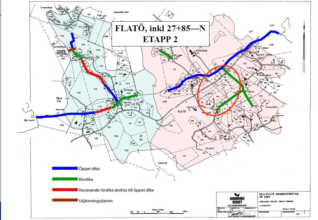 FLATÖ, inkl 27+85—N ETAPP 2