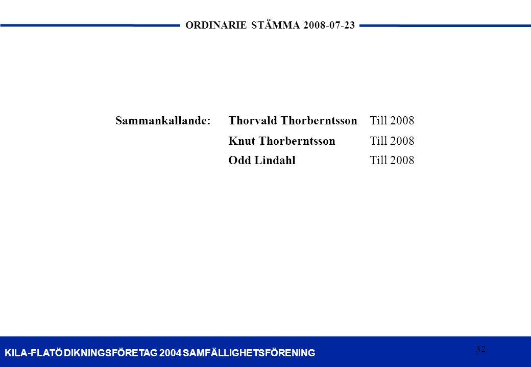 Sammankallande: Thorvald Thorberntsson Till 2008 Knut Thorberntsson Odd Lindahl