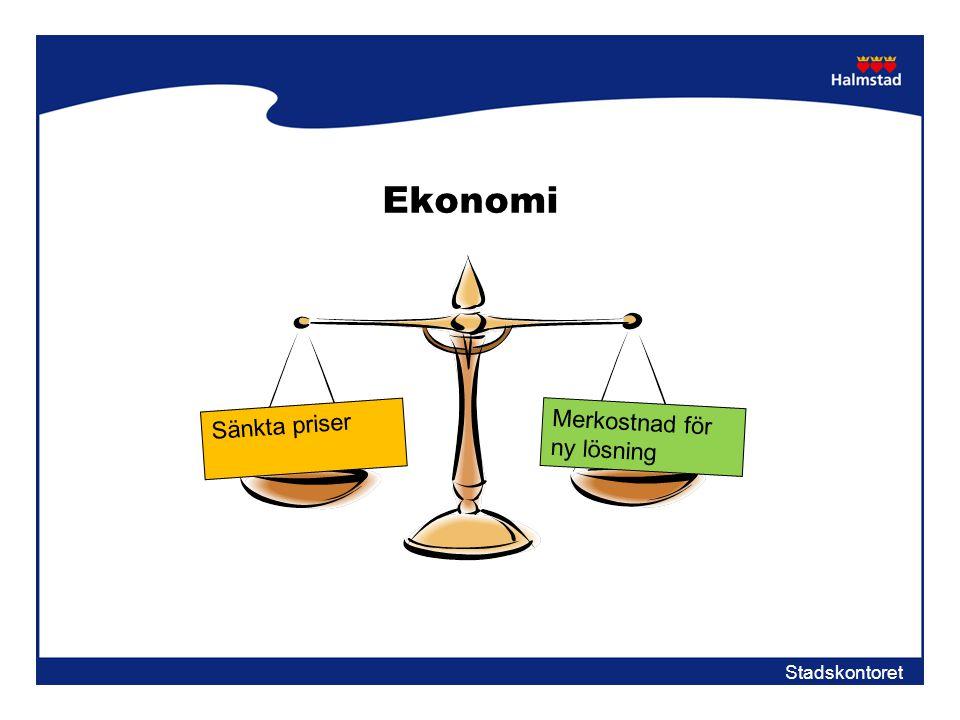 Ekonomi Sänkta priser Merkostnad för ny lösning