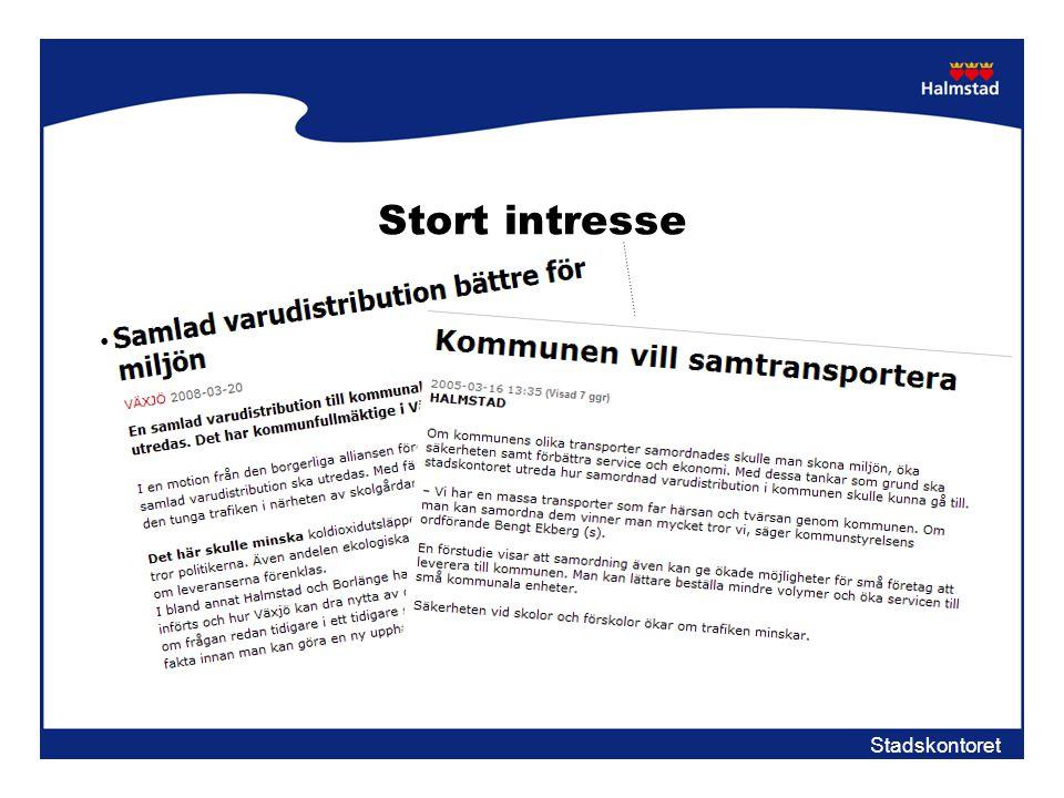 Stort intresse xxxx