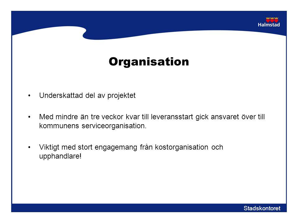 Organisation Underskattad del av projektet