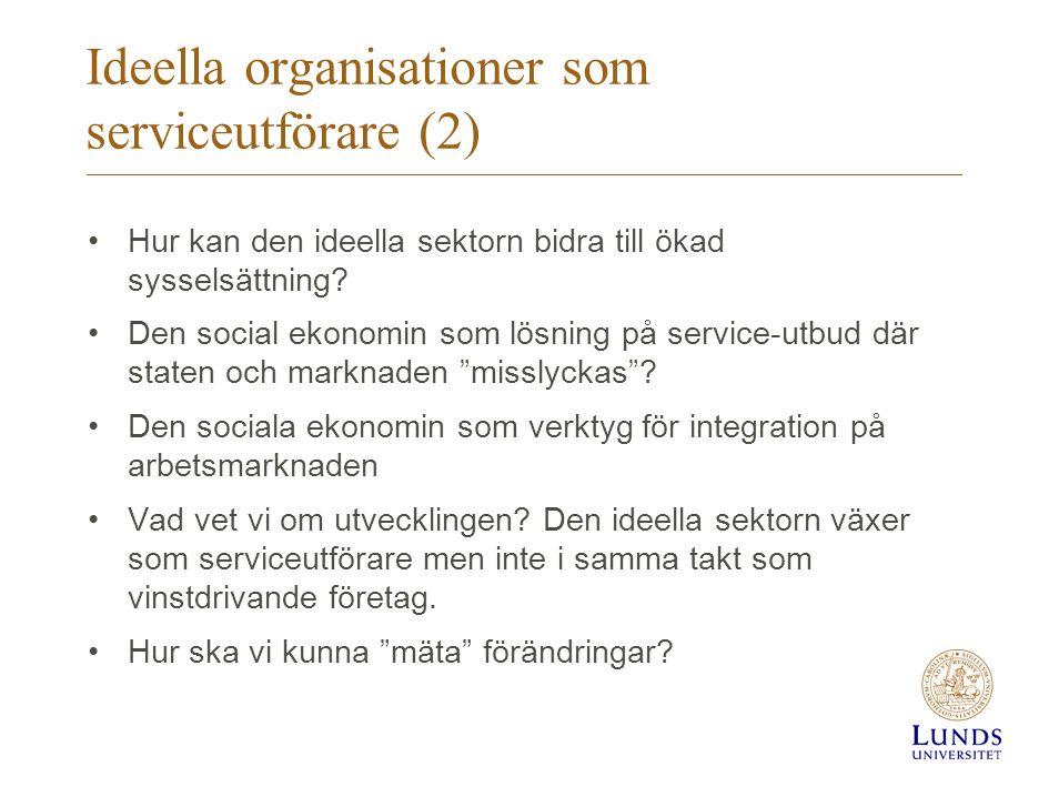 Ideella organisationer som serviceutförare (2)