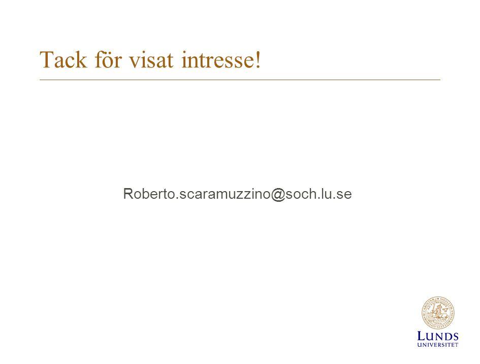 Tack för visat intresse!