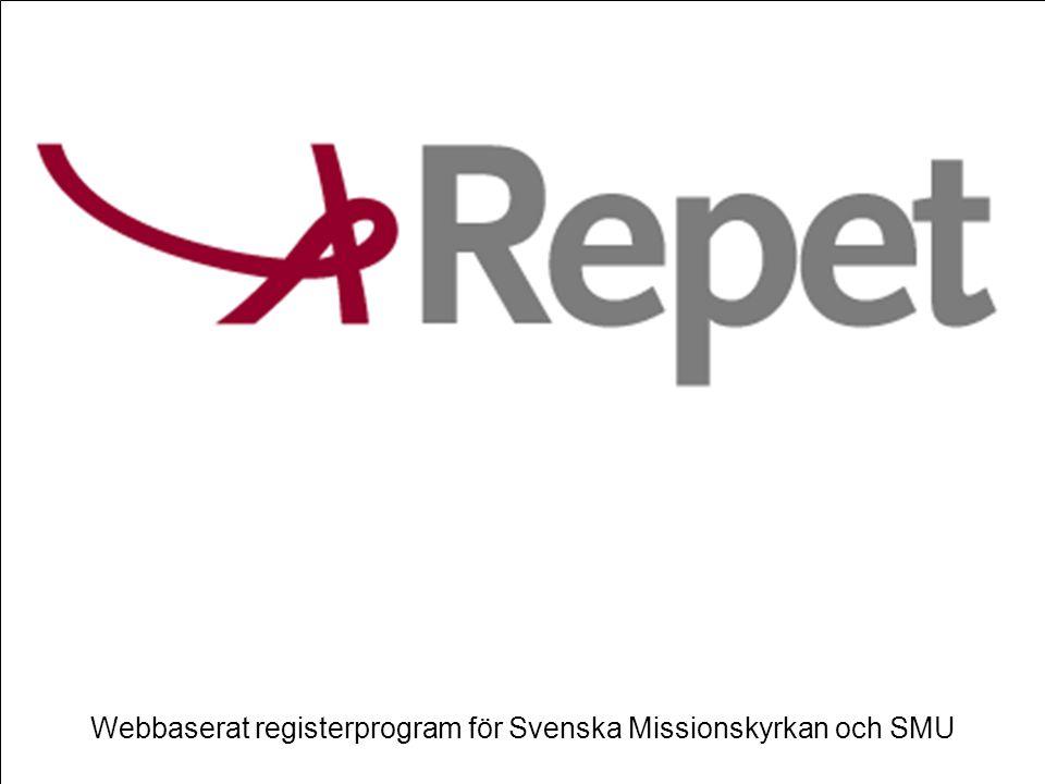 Webbaserat registerprogram för Svenska Missionskyrkan och SMU