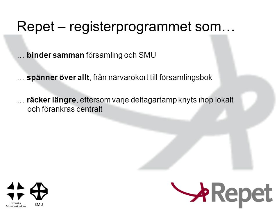 Repet – registerprogrammet som…