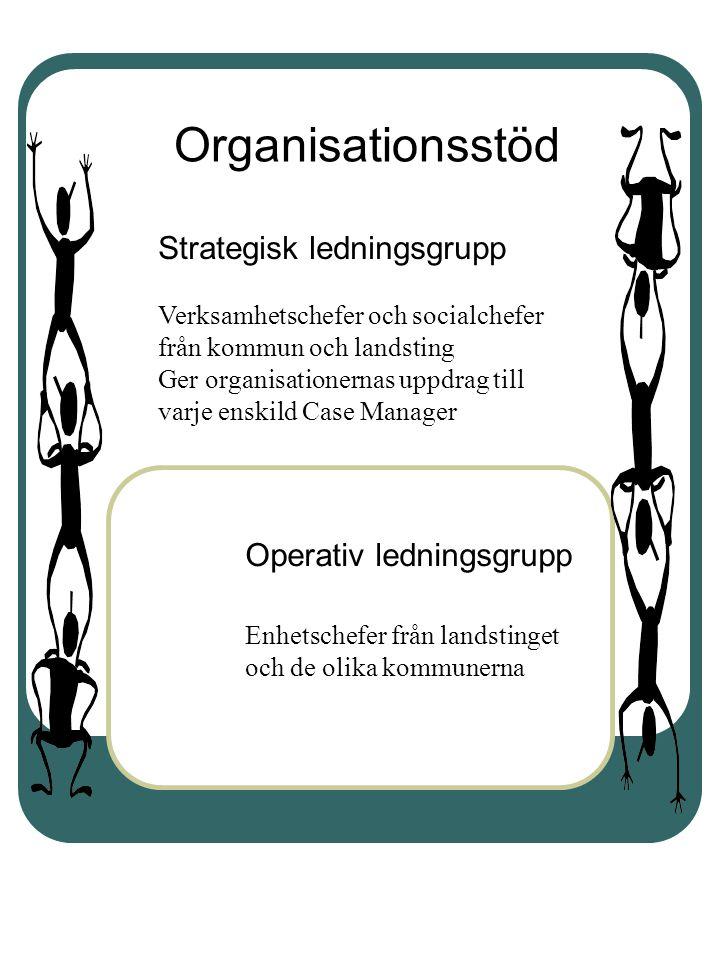 Organisationsstöd Strategisk ledningsgrupp Operativ ledningsgrupp