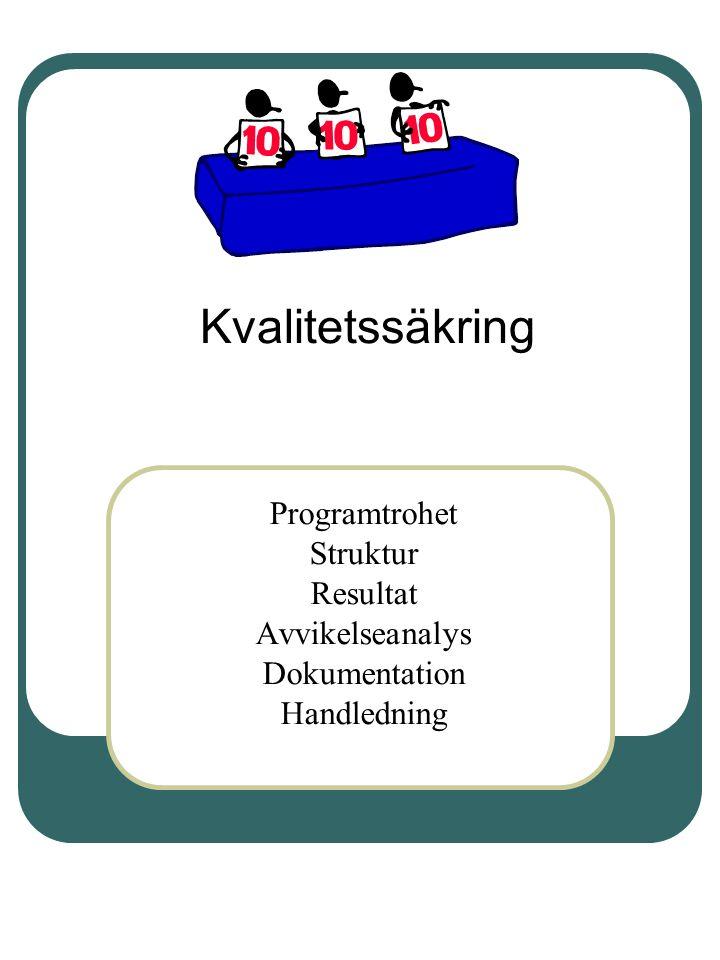 Kvalitetssäkring Programtrohet Struktur Resultat Avvikelseanalys