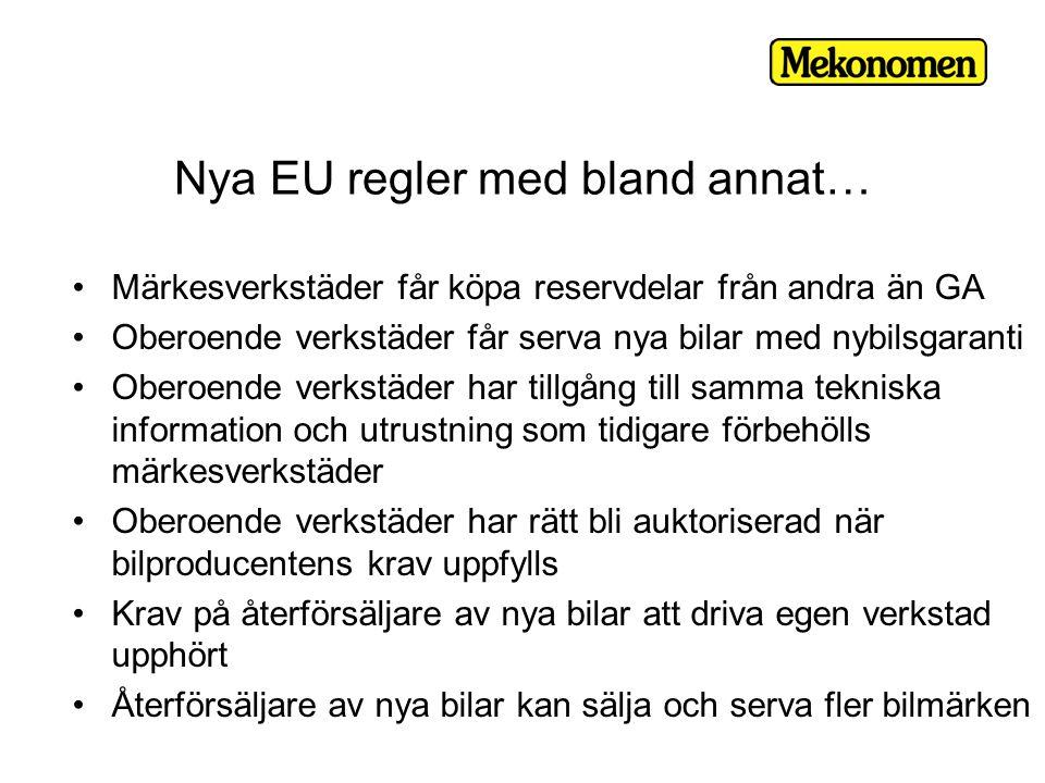 Nya EU regler med bland annat…