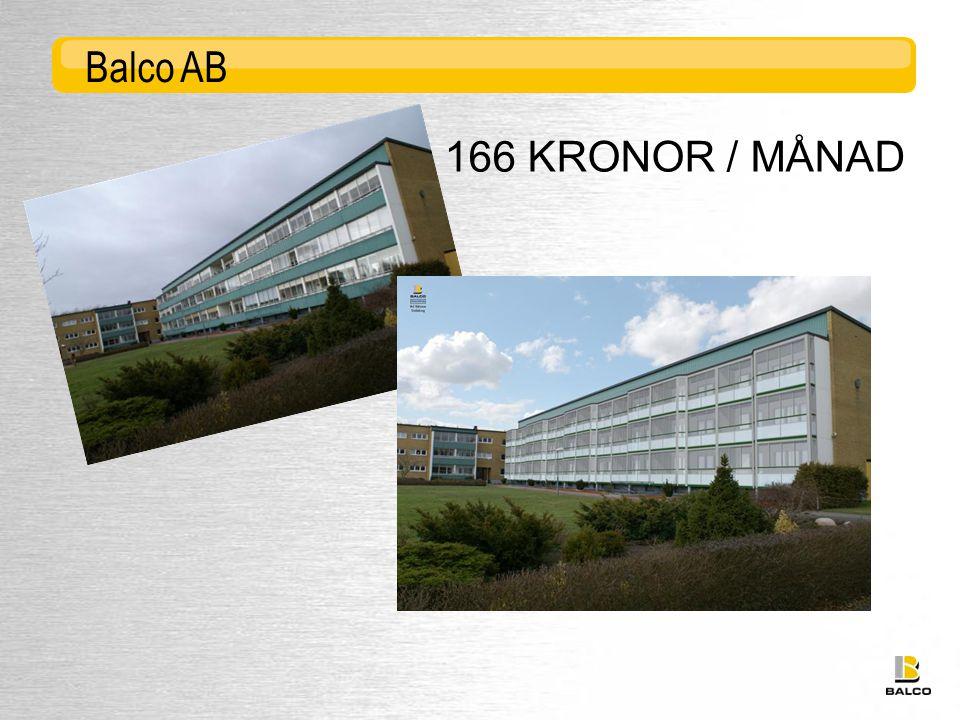 Balco AB 166 KRONOR / MÅNAD