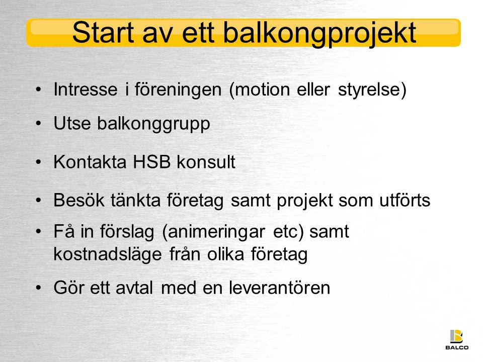 Start av ett balkongprojekt