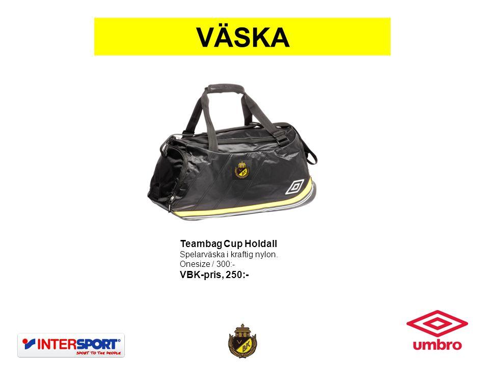 VÄSKA Teambag Cup Holdall VBK-pris, 250:- Spelarväska i kraftig nylon.