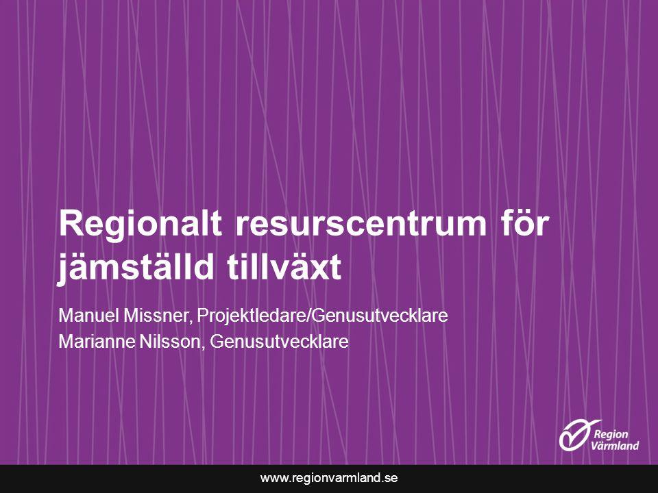 Regionalt resurscentrum för jämställd tillväxt