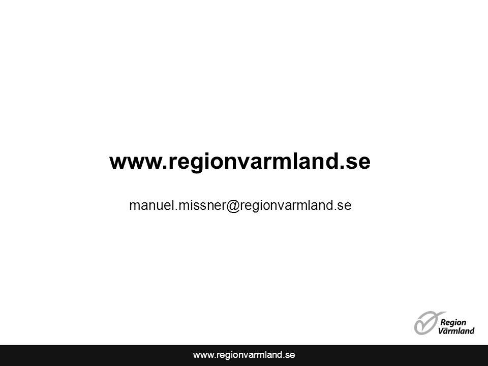 www.regionvarmland.se manuel.missner@regionvarmland.se