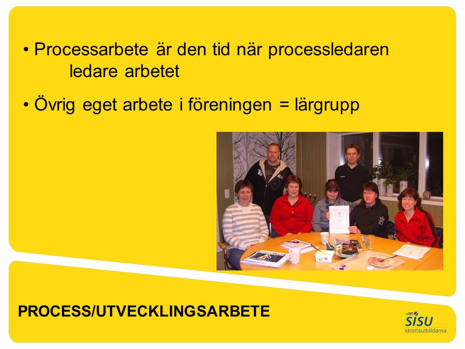 Processarbete är den tid när processledaren ledare arbetet