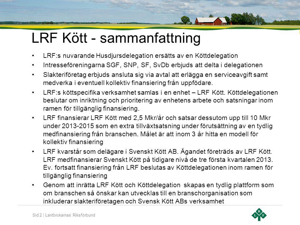 LRF Kött - sammanfattning
