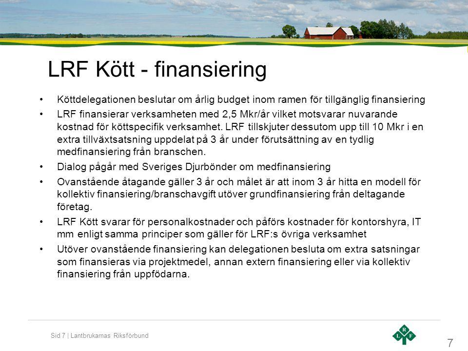 LRF Kött - finansiering