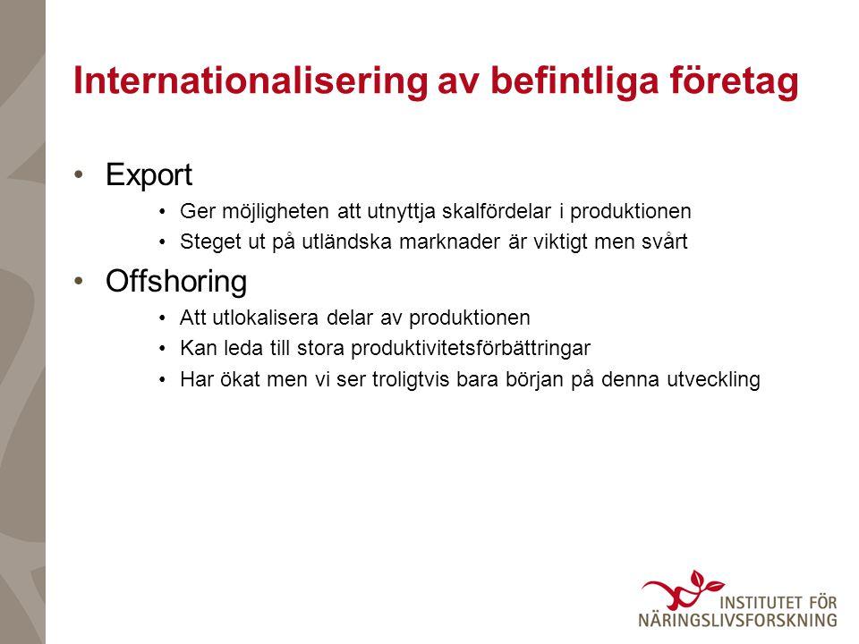 Internationalisering av befintliga företag