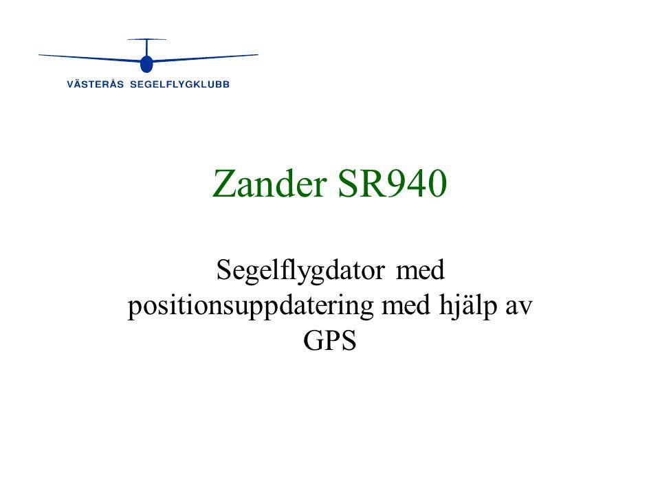 Segelflygdator med positionsuppdatering med hjälp av GPS