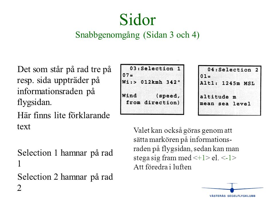 Sidor Snabbgenomgång (Sidan 3 och 4)