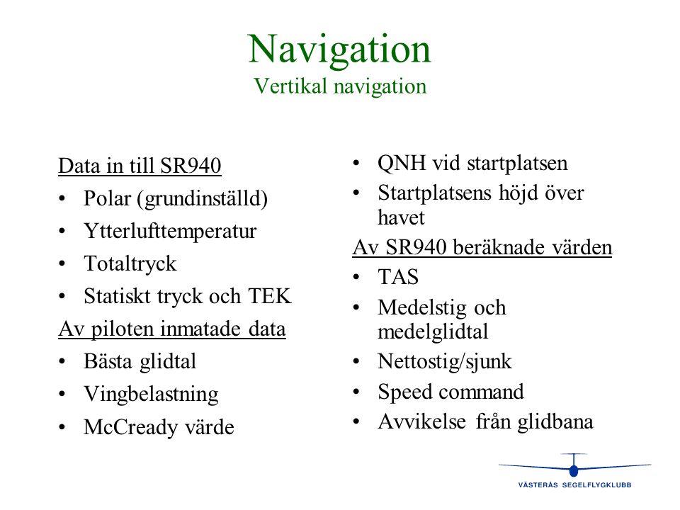 Navigation Vertikal navigation