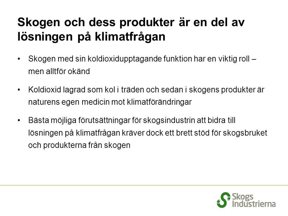 Skogen och dess produkter är en del av lösningen på klimatfrågan